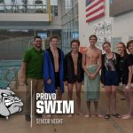 Provo Swim Honors Seniors at Final Home Meet
