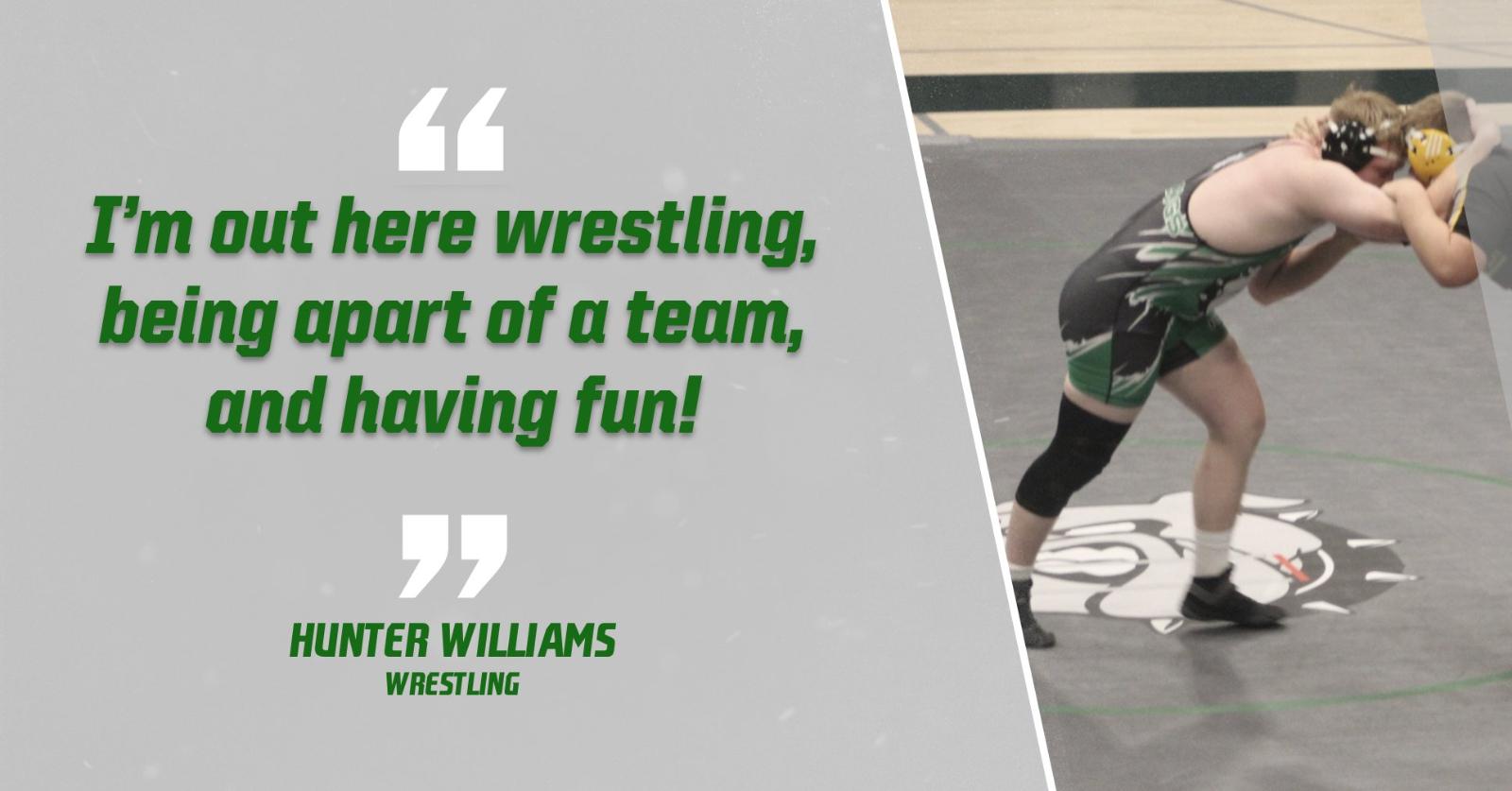 Bulldog Highlight: Hunter Williams-Wrestling