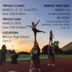 Provo Cheer Tryout Information