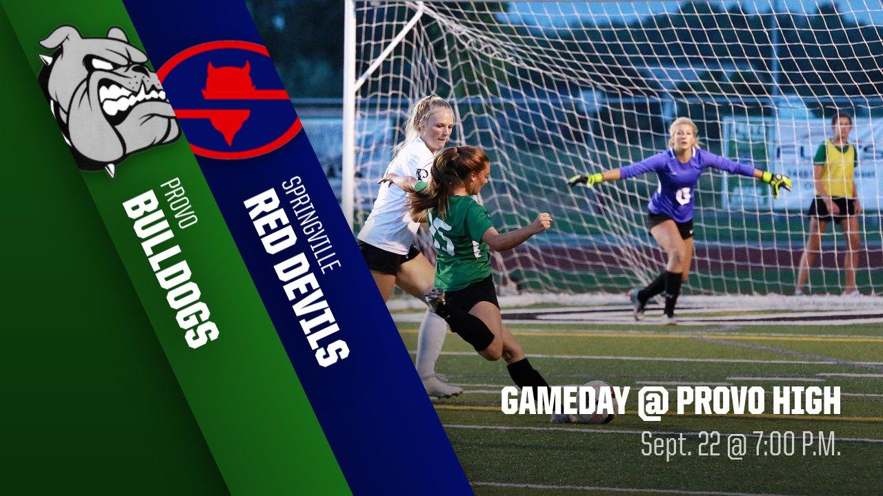 Game Day: Girls Soccer vs Springville 7 pm