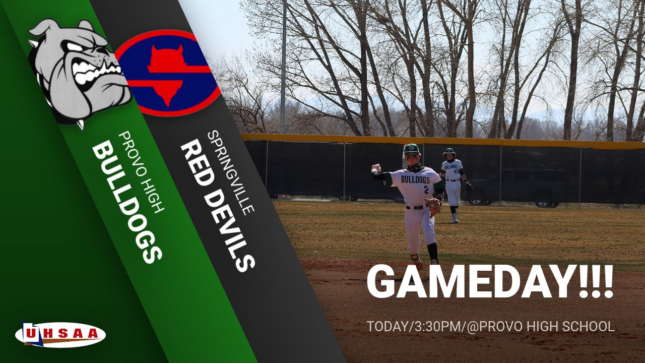 Gameday – Baseball vs Springville 3:30 pm