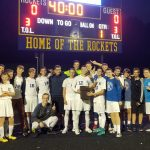 Ravenna boys soccer wins the Rockwell Bucket Trophy from Streetsboro