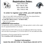 Mark your Calendars – Ravenna Youth Football Registration