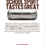 Looking for a dinner idea? Head to Chipotle in Kent Oct 12!!