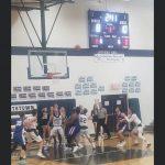 Our Boys Varsity Basketball team wins on the road!