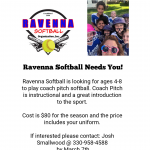 Ravenna Softball Needs You!!