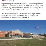 No school tomorrow for Ravenna High School ONLY!