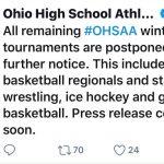 State Wrestling Tournament Postponed