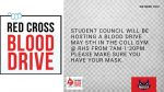Student Council Blood Drive ~ May 5th ~ Coll Gym from 7am-1:30pm.