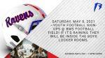 Saturday, May 8 ~ Youth Football Sign-ups @ BMS!