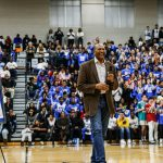 Alex English Jersey Retirement Ceremony