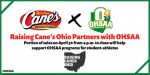 Raising Cane's Ohio Partners with OHSAA on April 30th