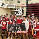 Hocter Earns 100th Win; Comets Defeat Grass Lake and Center.