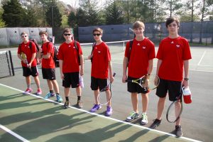 3-23-16  MHS vs. Halls High School Boy's Tennis Match!