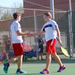 Maryville High School Boys Varsity Tennis beat Heritage High School 8-1