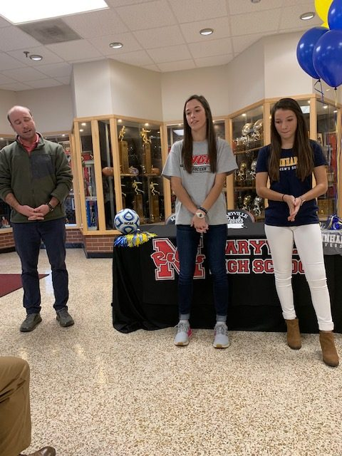 Lady Rebels, Jade Seery and Karly Wolford, Sign with Collegiate Soccer Programs
