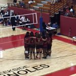 Volleyball spikes to a win
