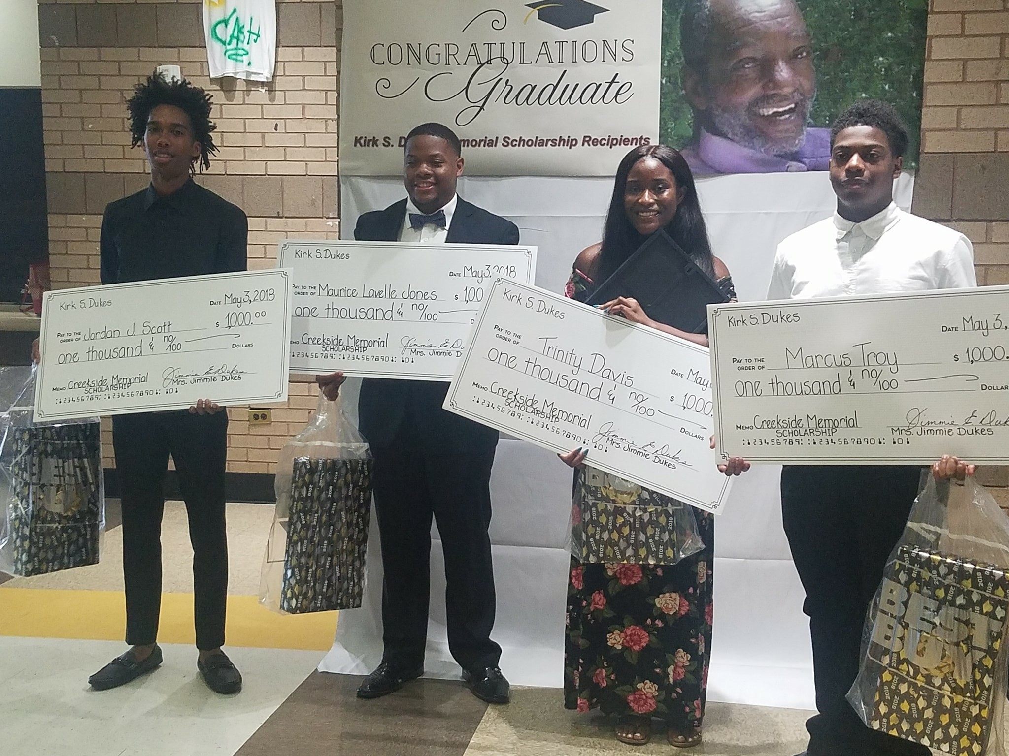 Dukes Memorial Scholarship Winners