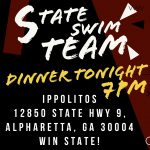 Swim Team Dinner – Tonight!