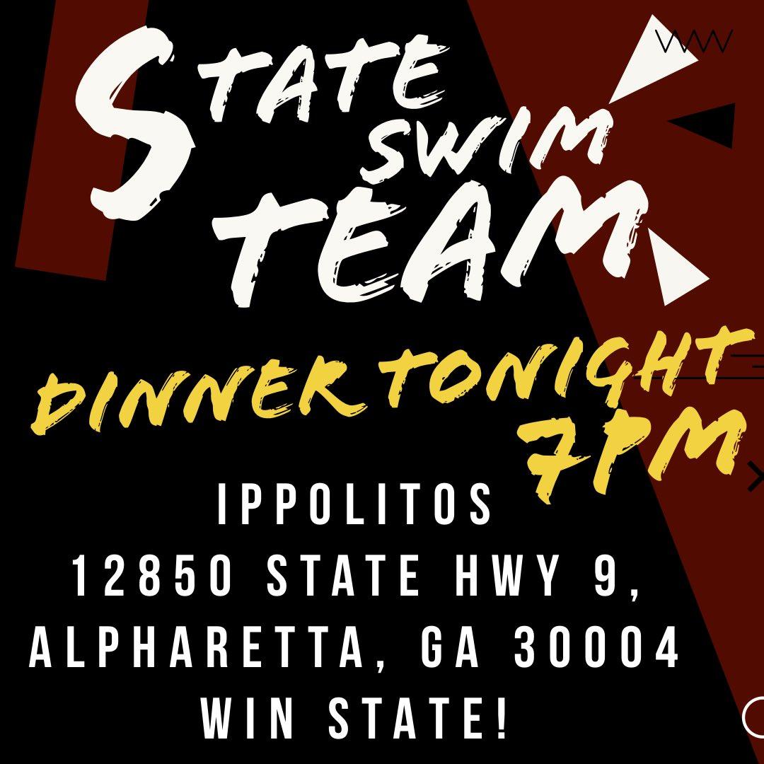 Swim Team Dinner – Tonight!