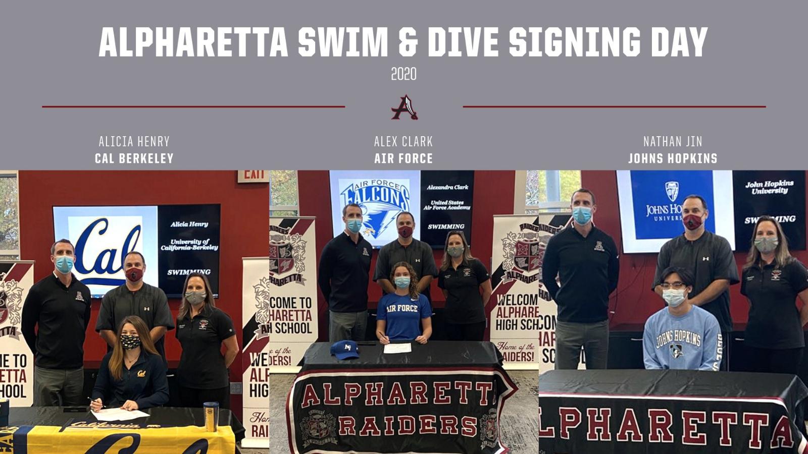 Alpharetta Swim & Dive Signing Day