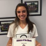 Sarah Aehle Cross Country Athlete of the Week