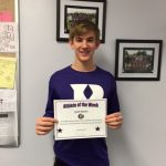 Jacob Klenke PHS Athlete of the Week.