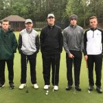 Boys Varsity Golf Plays 18 in the Rain at Grizzly Classic