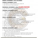 Palmer Events: Dec 3-7, 2019