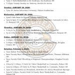 Palmer Events: Jan 27-Feb 1, 2020