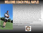 Head Football Coach Announced – Coach Phill Naple takes over a promising program!