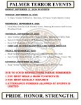 Palmer Events: Sept 21-26, 2020