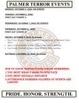 Palmer Events: October 5 – 10, 2020