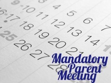 MANDATORY SEASON B PARENT MEETINGS TONIGHT!!!