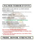 Palmer Events: March 15 – 20, 2021