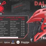 Lacrosse Schedule Poster
