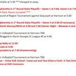 Sports This Week at DHS – October 8th – 13th!!