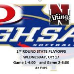 2nd Round-Softball Playoffs Oct 17th