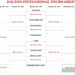 Dalton BASKETBALL Thanksgiving Tournament Next Week!