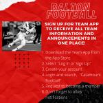 DALTON FOOTBALL TEAM APP!!! SIGN UP!!!