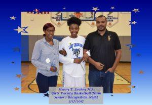 Girls Varsity Basketball – Seniors Recognition Night – 2/17/2017