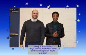 Boys Varsity Basketball – Seniors Recognition Night – 2/8/2017