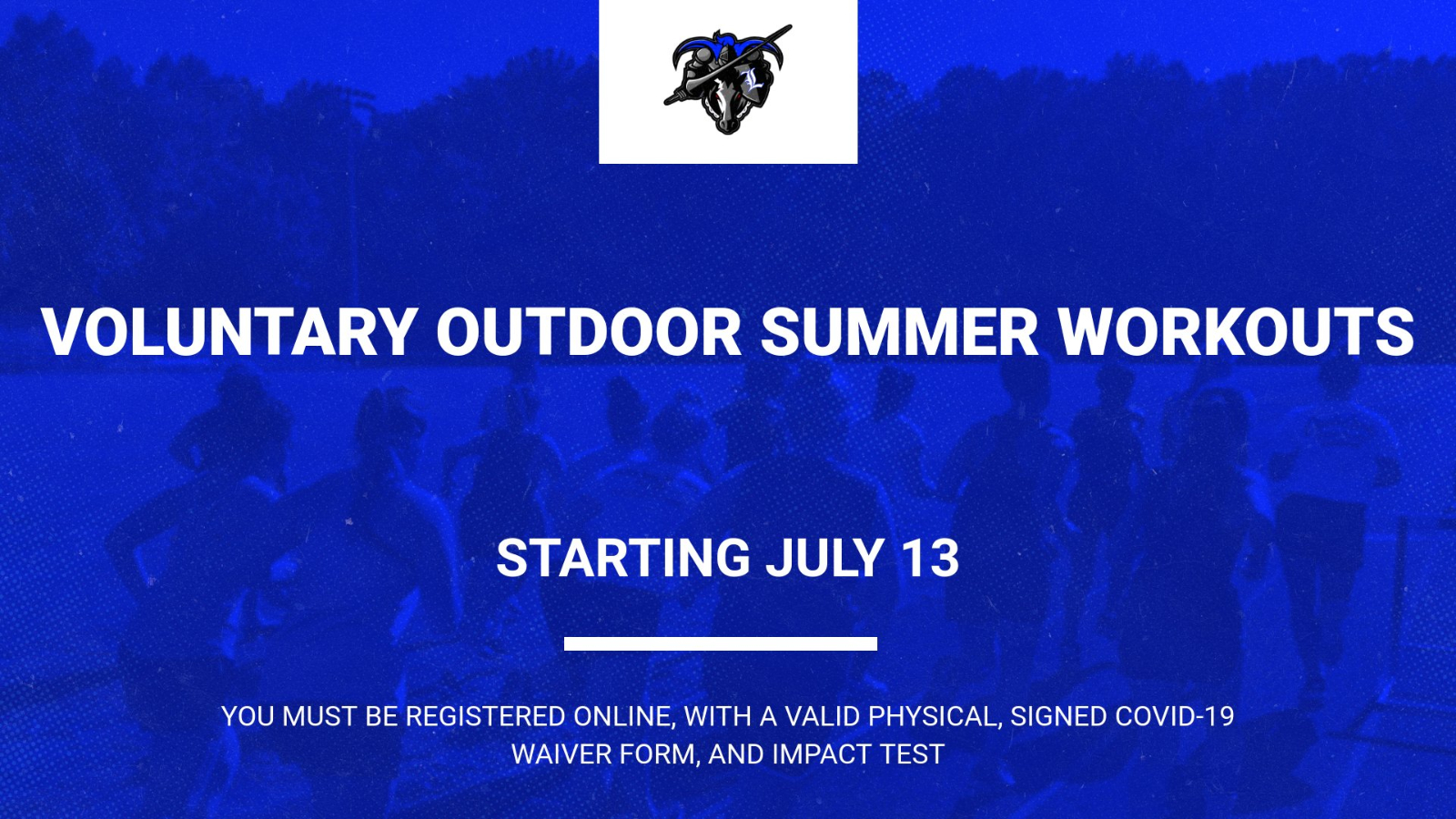 Voluntary Outdoor Summer Workouts