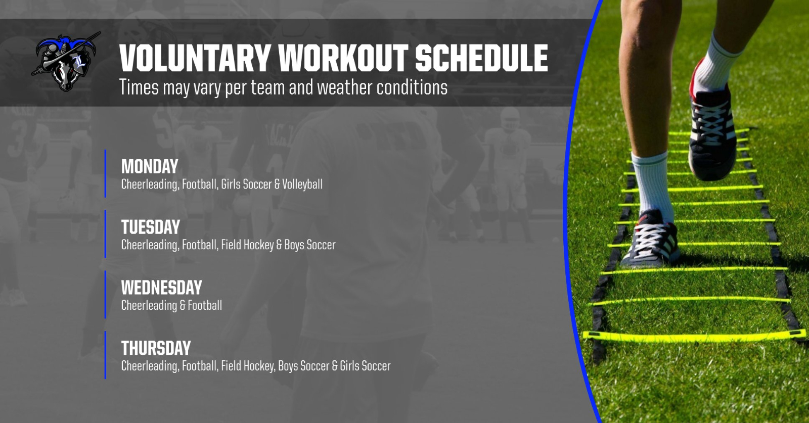 Voluntary Workout Schedule