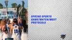 Spring Sports Game/Match/Meet PROTOCOLS