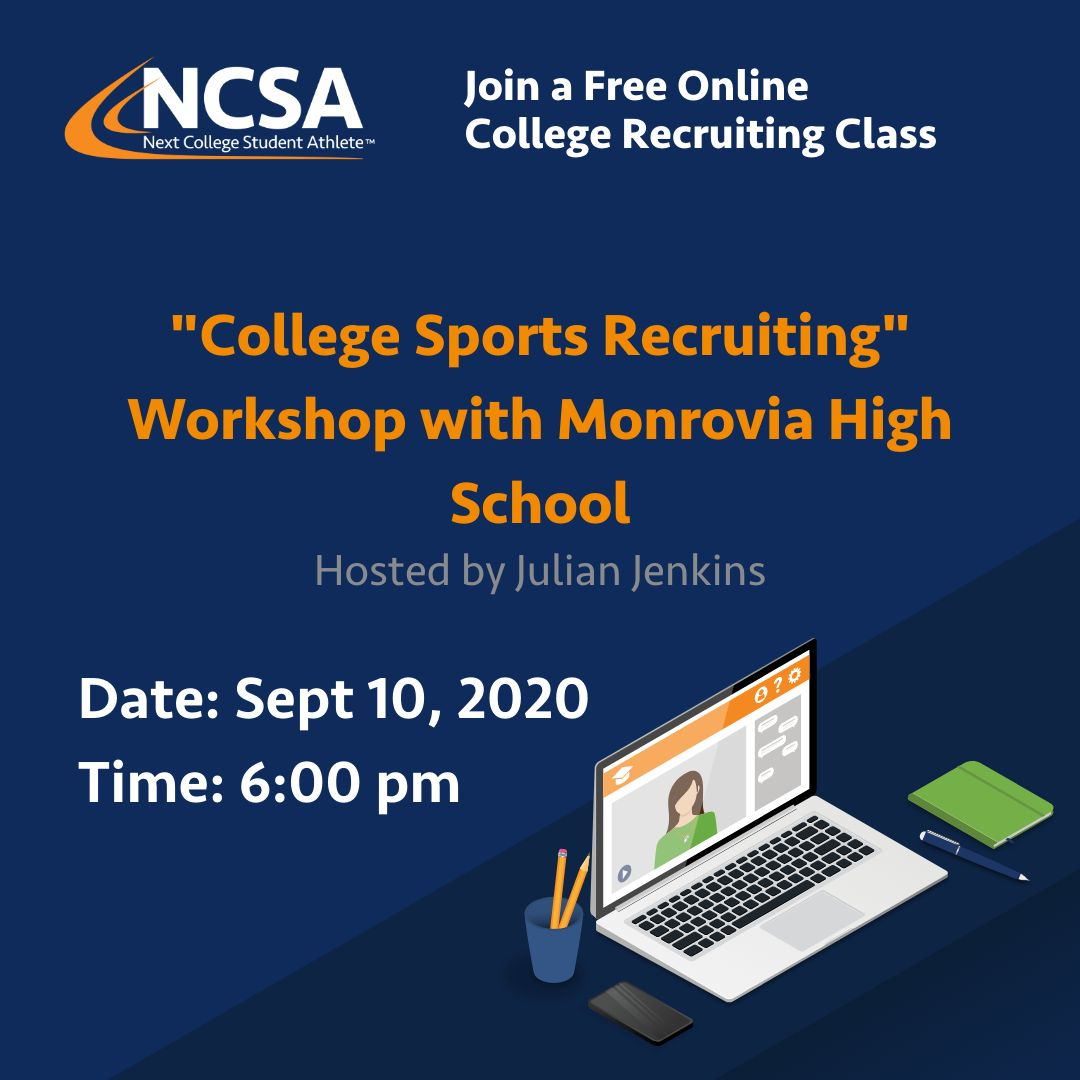 WILDCATS Play at the Next Level? Attend NCSA Webinar with Julian Jenkins on Sept 10!!!