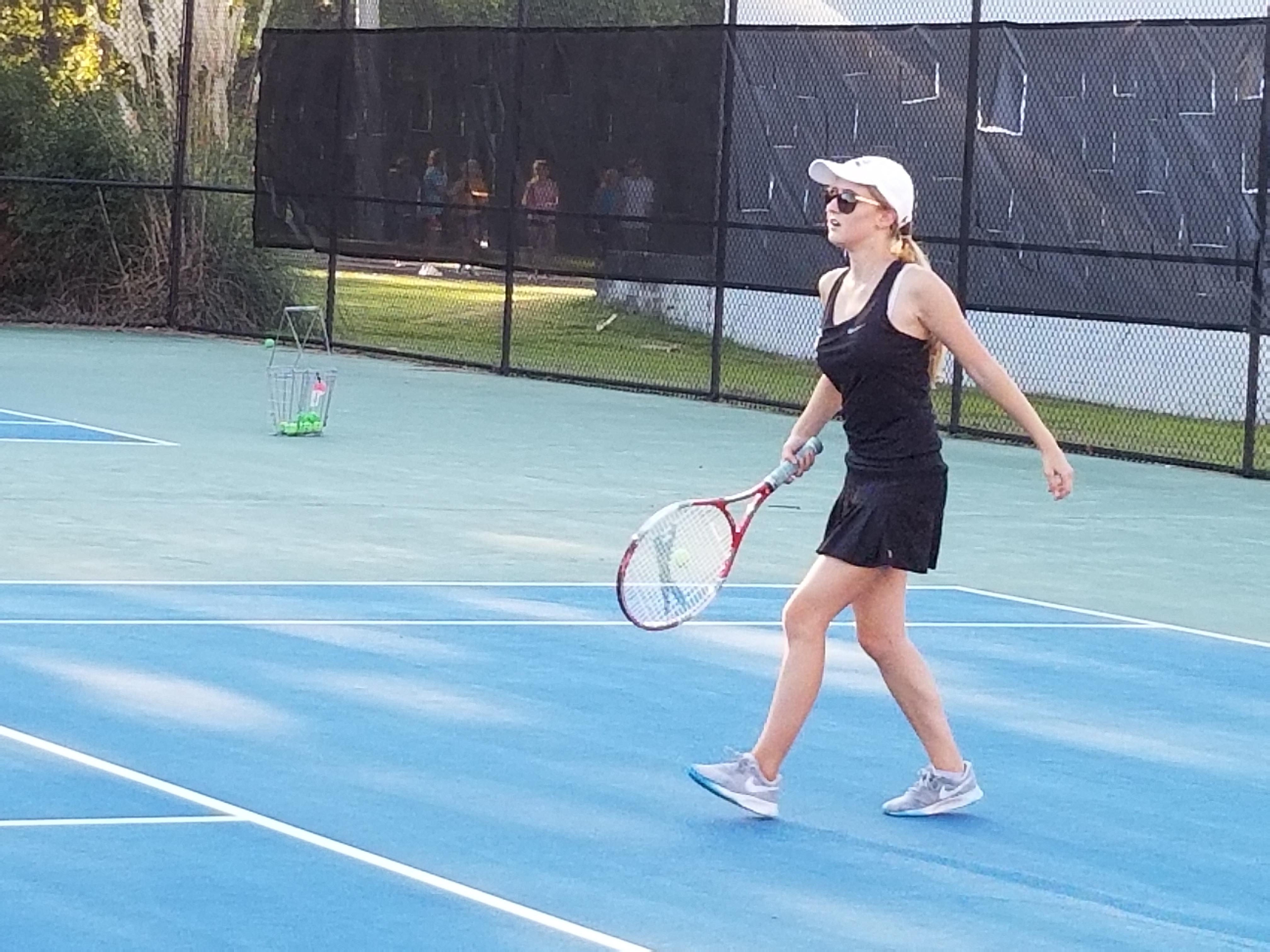 Girls Varsity Tennis falls to Gilbert 5 – 1