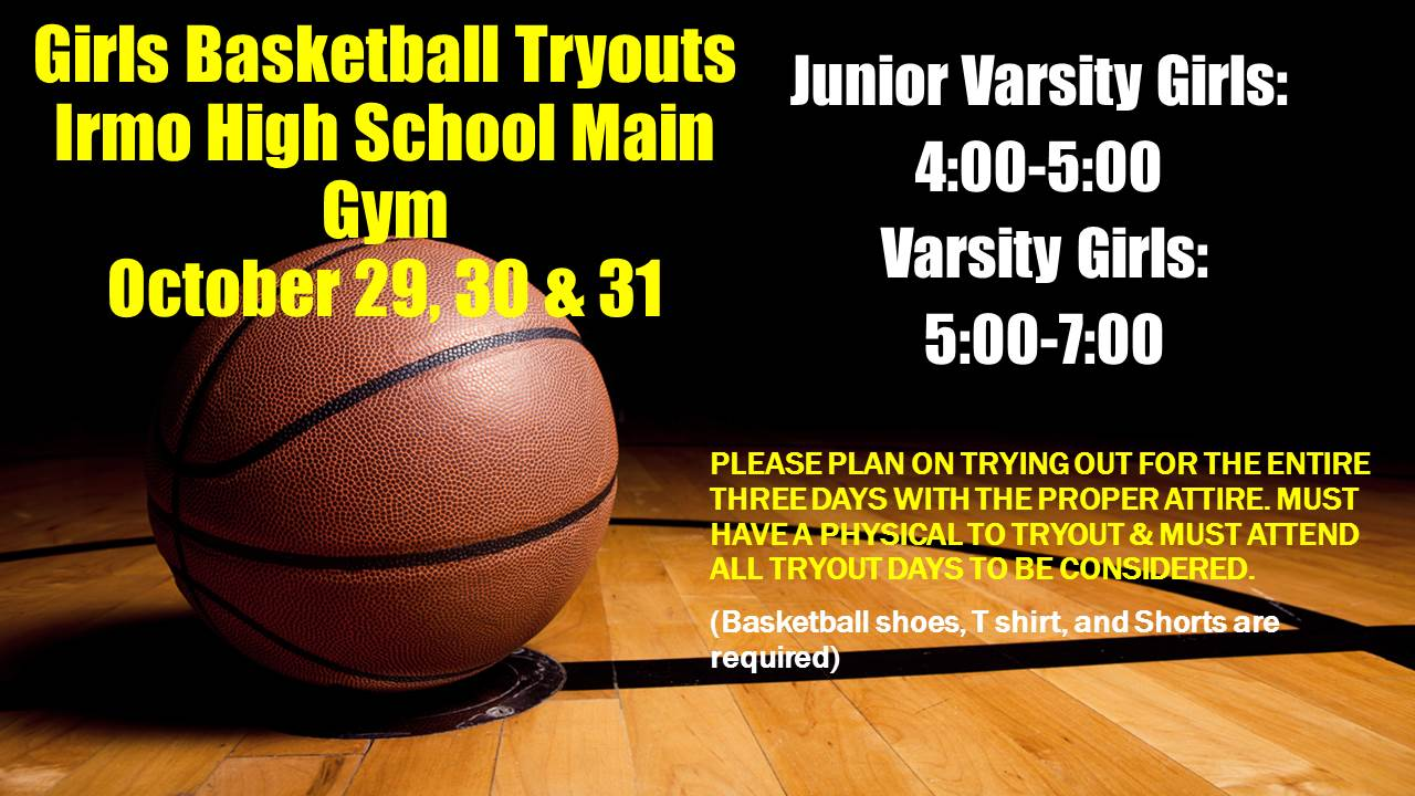 GIRLS BASKETBALL TRYOUTS (VARSITY AND JV)