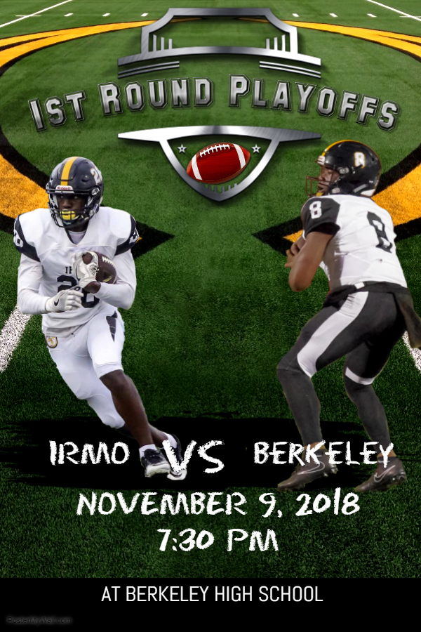 1st Round of 5A FOOTBALL PLAYOFFS Friday NOV. 9th at Berkeley