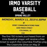 Baseball to play at Spirit Communications Park!!
